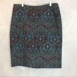 Talbots paisley pencil skirt Size 16
